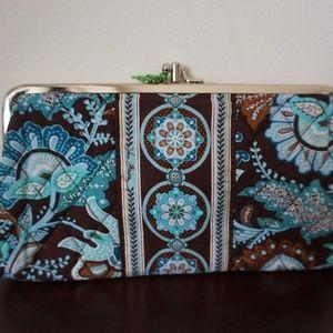 **Vera Bradley blue and brown wallet**
